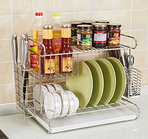 étagère de rangement Rack bol en acier inoxydable / Assaisonnement rack multi-usages / Porte-outils / Baguettes Tube / Rack Cuisine Étagère d'armoire ( Couleur : 4# )