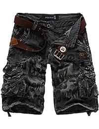 Amazon.es: Pantalones Piratas Hombre - Yonglan: Ropa