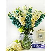 fiori artificiali, Seta / Plastica Delphinium Fiori Artificiali , green - Delphinium Vaso