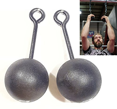 Grip Stärke Training, 3Zoll Hartholz Pull Cannonball Bomben-Ninja Warrior Klettern & Crossfit Training, Set 2