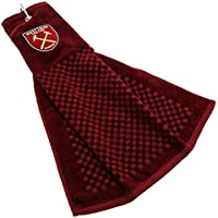 NEW 2018 WEST HAM UNITED FC CROSS TRI FOLD GOLF TOWEL BY PREMIER LICENSING.