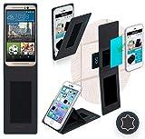 Handyhülle für das HTC One M9s in Schwarz Leder - Anti