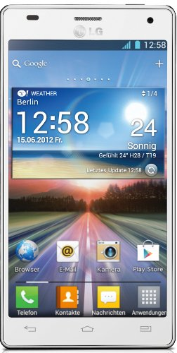LG P880 Optimus 4X HD Smartphone (11,9 cm (4,7 Zoll) Touchscreen, 8 Megapixel Kamera, 1,5GHz, NFC, WiFi, Android 4.0) weiß (G Android Lg Optimus)