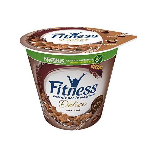 Nestlé Fitness Delice Cioccolato Cereali Integrali con Ripieno Morbido al Cioccolato, 8 x 45 G 1 spesavip