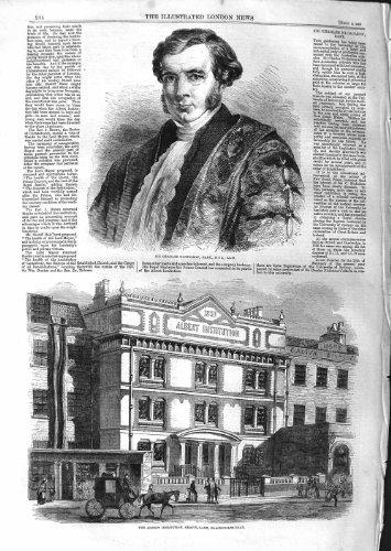 GRAVIER 1859 de MONSIEUR CHARLES NICHOLSON ALBERT INSTITUTION [Cuisine et Maison] par original old antique victorian print