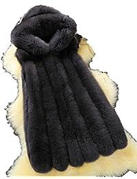 Lonlier Abrigo de mujer Invierno con Capucha Chaleco de Piel Sintética sin  Mangas 76a56b09f7a8
