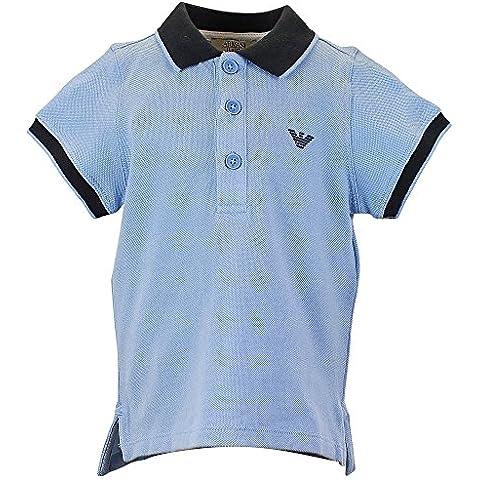 Armani bebé Polo de manga corta para hombre, color azul claro