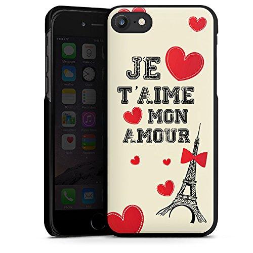 Apple iPhone X Silikon Hülle Case Schutzhülle Herz Spruch Mon Amour Hard Case schwarz