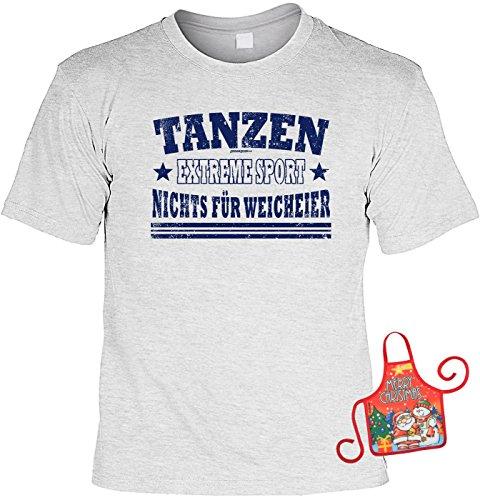 Ist Preis Ideen T Das Shirt Richtige (Tänzer Weihnachtsgeschenk-Set - lustiges Sprüche T-Shirt + Minischürze : Tanzen Extreme Sport Nichts für Weicheier -- Tanzshirt + witziger Scherzartikel Flaschenschürze Gr:)
