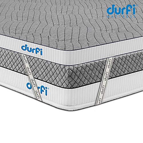 Durfi 2-Inch Orthopedic Queen Size Memory Foam Mattress Soft Topper in Grey (72x60x2 Inch, Memory Foam) Image 5