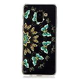 Custodia in silicone XINYIYI Galaxy A8 2018 Plus, copertura trasparente protettiva in TPU trasparente ad alta trasparenza ultra-sottile Set di ammortizzatori Samsung Galaxy A8 2018 Plus-Farfalla semicircolare