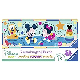 Ravensburger Italy- Classics My First Wooden Puzzle Disney Baby, 03238