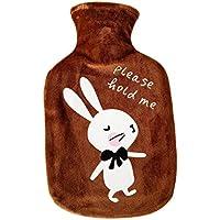 Cdet 1x Karikatur Wärmflasche Tiermuster Wärmeflaschen mit Plüsch Schutzhülle, 1 Liter, 27.5cm*17cm (Braun Hase) preisvergleich bei billige-tabletten.eu
