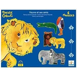 Djeco - 7110 - Puzzle - Fauve et Ses Amis