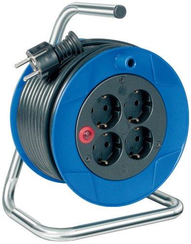 Brennenstuhl Garant Kompakt Kabeltrommel (15m - Spezialkunststoff, Einsatz im Innenbereich, Made In Germany) blau