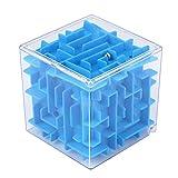 Geld Maze Puzzle Box, Labyrinth Game Cube, Kinder Kids Labyrinth Puzzle Spiel Spielzeug Bildungs-Spielzeug vneirw, blau, 2.6*2.6*2.6inches