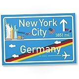 New York City Kunststoff Schild, Geschenk für sie New York Amerika Reise - süße Deko NYC Fans, Wanddeko, Türschild Mädchen Wohnung / Zimmer, Geschenkidee Geburtstagsgeschenk beste Freundin, Party Deko
