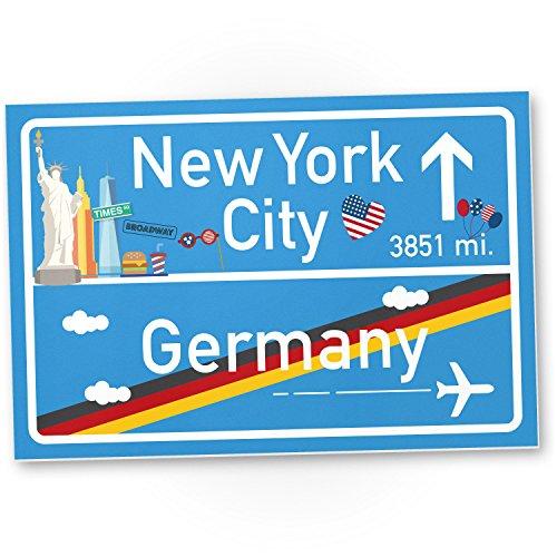 , Geschenk für sie New York Amerika Reise - süße Deko für NYC Fans, Wanddeko, Türschild für Mädchen Wohnung und Zimmer, Geschenkidee Geburtstagsgeschenk beste Freundin, Party Deko (New York-party Dekorationen)