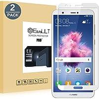 [2 Pack]Protector de Pantalla Huawei P Smart,EasyULT Cobertura Completa Protector de Pantalla de Vidrio/Cristal Templado paraHuawei P Smart-Blanco