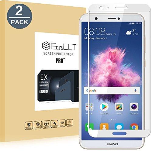EasyULT Pellicola Protettiva per Huawei P Smart [2-Pack], Copertura Completa Pellicola Protettiva in Vetro Temperato per Huawei P Smart-Bianco