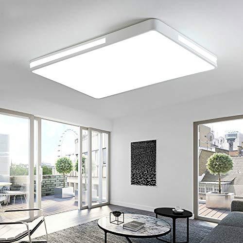 BFMBCHDJ Minimalistische Wohnzimmer Schlafzimmer Küche Deckenleuchte Rechteckige Moderne Led Deckenleuchte Gerät Deckenleuchte Warmweiß L50xB50xH6cm -