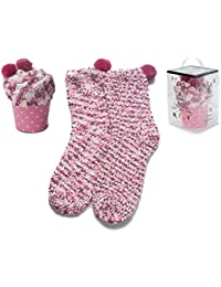 2 Caja Regalo Mujer Navidad Calcetines Super Suaves Cómodos Calentar