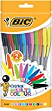 BIC 20 Cristal Multicolour Pen - Assorted (Pack of 20)