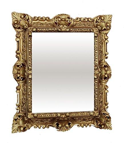 Lnxp WANDSPIEGEL Spiegel RECHTECKIG Gold REPRO 45x38 Antik Barock Rokoko REPLIKATE NOSTALGISCH...