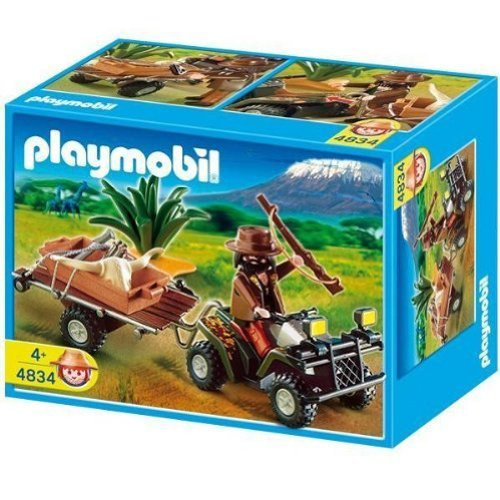 Playmobil - Selva Cazador Quad Y Remolque 4834