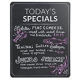 Custom Product Solutions Today 's Specials Restaurant Menü Tafel Schild. Schwarz W/Weiß Print und Runde Ecken, A-Frame Einsatz für Sandwich Board Sign 71,1x 55,9cm Set von 2