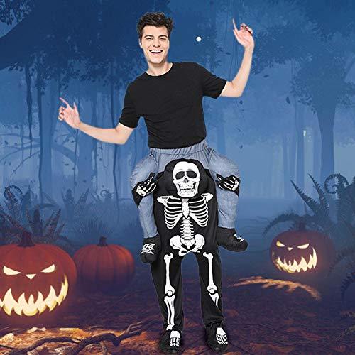 TARTIERY Halloween Kostüm Skelett Halloween Scary Ghost Devil Cosplay Frauen Skelett Skelette Impressionen Trikot Magic Pants Man Hatchback - Scary Kostüm Für Halloween