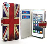 Accessory Master Etui en pu cuir pour Apple ipod touch 5 Motif Livre Style/Drapeau du Royaume-Uni Millésime - Modèle aléatoire