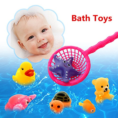 Bath Toys, Chickwin Baby Bathing Toys Kids Bath Play Water Pool Tub Animals Sounding Toy