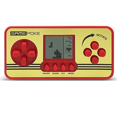 GM01015RedUK Retro-Spielgerät mit Mini-Display, 23 klassische Spiel, u.a. Variationen von Tetris, für Kinder, tragbar