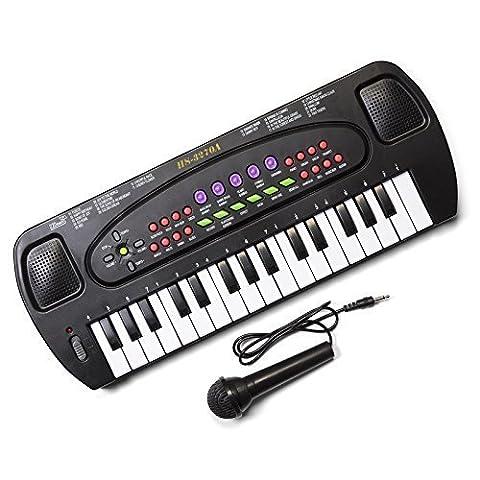 Hawkin Tobar pour enfant musical électronique karaoké clavier 32touches avec micro, Lot de 2