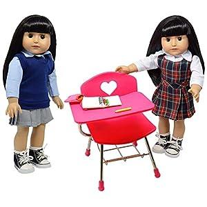The New York Doll Collection Juego de muñecas de regreso a la escuela para muñeca de 18