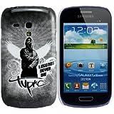 Samsung Galaxy S3Mini i8190et I8200TU 2Pac Tupac Shakur 2Pac Shakur 2Pac Téléphone portable étui de protection rigide design thematys®
