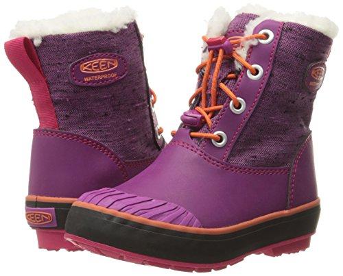 KEEN Elsa WP Kinderwinterschuhe purple wine/tigerlilly