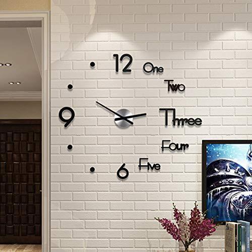 DIY Wanduhr Moderne Clock,Xshuai 21 styles 3D Acryl Spiegel Metall Rahmenlose Wandaufkleber Groß Uhren Style Raum Home Dekorationen Tolles Geschenk MuteAufkleber Office Decor Modern Design Wanduhren