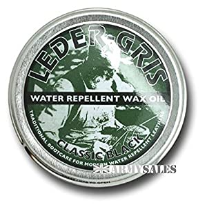 51SY oRS5WL. SS300  - Leder Gris Original Wax Oil BLACK 40g Tin Waterproofing Boot Treatment Polish from Army Sales