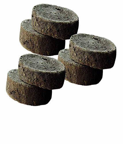 "6 PCs Pure Natural Cow Dung Cakes (Gobar Upla) for Hawan,Puja and Indian Rituals, Dia 5"""