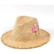 31b708420ec08 WELSUN Sombrero de Paja de la Rafia Sombrero de Sol de Playa Mujer de Verano  de