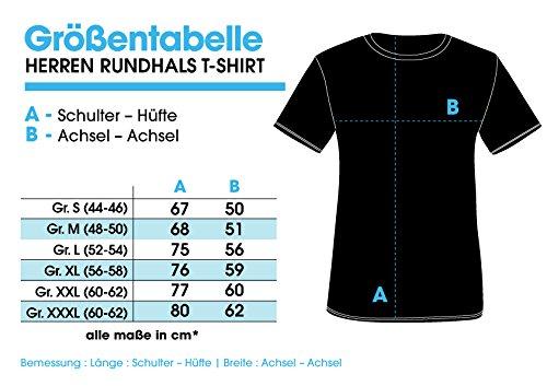 EZYshirt Ich Hasse Menschen Herren T-Shirt Rundhals Navy/Weiss