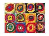 Kunstdruck/Poster: Wassily Kandinsky Farbstudie Quadrate - hochwertiger Druck, Bild, Kunstposter, 40x30 cm