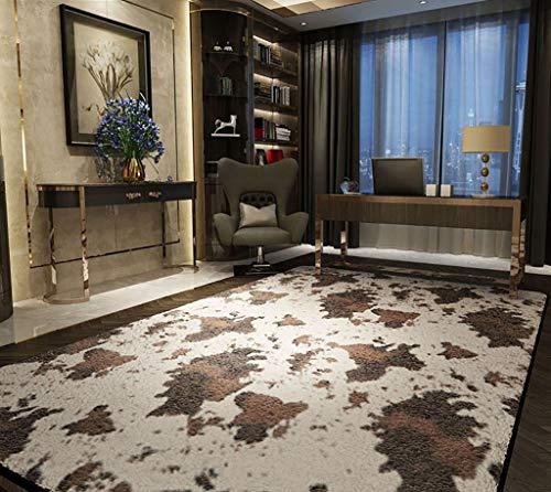 SESO UK-CAR Nordic Modern Designer Teppich Nachahmung Muster Villa Wohnzimmer Schlafzimmer große Teppiche (Farbe : Cow Lines, größe : 160×200cm)