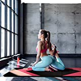 CCLIFE 300x120x5cm Weichbodenmatte Turnmatte Klappbar Gymnastikmatte Yogamatte Fitnessmatte Farbeauswahl, Farbe:Schwarz & Rot A Test