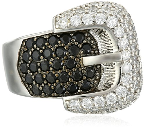 charles-winston-sterling-silver-black-white-cubic-zirconia-buckle-ring-270-ct-tw-size-8