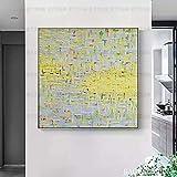FENGJIAREN 100% Pintura Al Óleo Pintada A Mano Pura Miles De Grúas Sala De Estar Pintura Decorativa Pórtico Pasillo Pasillo Pintura Estudio Mural Vertical, 80 × 80 Cm