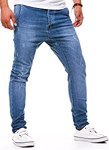 LEIF NELSON - Jeans homme Skinny Slim fit type sarouel - Homme - Bleu - W30/L32