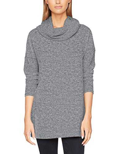 ONLY Damen Onlida L/S Long Pullover Knt, Grau (Light Grey Melange), 40 (Herstellergröße: L)